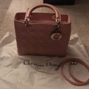 Authentic Christian Dior lady Dior pink